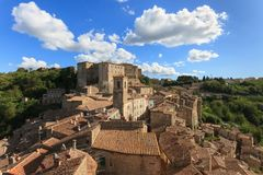 Sorano, Tuscany, Italy. Sorano is a medieval town in Tuscany in Italy Royalty Free Stock Photo