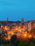 Sorano mooie en comfortabele middeleeuwse stad in Grosseto van prov royalty-vrije stock afbeelding