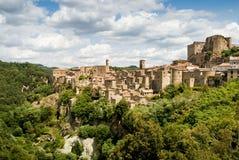 Sorano, Toscaans dorp Royalty-vrije Stock Fotografie
