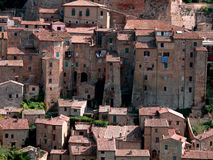 Sorano town in Italy. Medieval Sorano town in Italy Royalty Free Stock Photography