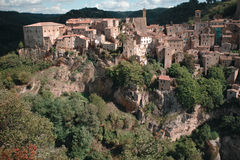 Sorano town. Medieval Sorano town in Italy Stock Images