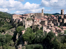 Sorano town. Medieval Sorano town in Italy Stock Photos