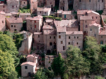 Sorano town. Medieval Sorano town in Italy Royalty Free Stock Image
