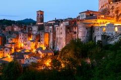 Sorano - tuff city in Tuscany. Italy Royalty Free Stock Photo