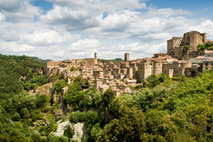 Sorano, tuscan village. Sorano, Italy, typical village in tuscany Royalty Free Stock Photography