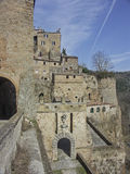 Sorano in Tuscany. Sorano is a small medieval town in southern Tuscany Royalty Free Stock Photo