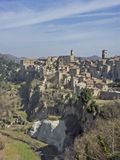 Sorano in Tuscany. Sorano is a small medieval town in southern Tuscany Stock Images