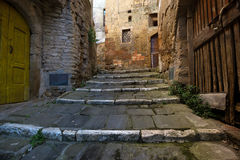 Sorano. View of the streets in the old  famous tuff city of Sorano, province of Siena. Tuscany, Italy Stock Photo
