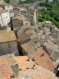 Sorano village, Italy. Sorano village from above, Tuscany Royalty Free Stock Images