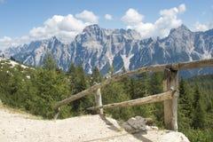 Sorapis massif - dolomite Stock Photo