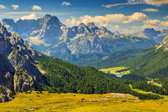 Sorapis mountain group and Misurina Lake,Dolomites,South Tyrol,Italy. Beautiful landscape in the Dolomites,Sudtirol,Italy,Europe stock photos