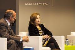Soraya Sáenz de Santamaría, Υπουργός αναπληρωτών πρωθυπουργών Στοκ Εικόνες