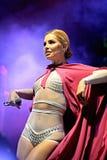 Soraya (singer) at Primavera Pop Festival by Los 40 Principales Royalty Free Stock Photography
