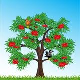 Sorba dell'albero con il giorno di anno della bacca Illustrazione di vettore illustrazione vettoriale