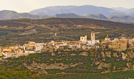 Sorbas Village Almeria Andalucia Spain. View of the Village of Sorbas Almeria Andalucia Spain stock images