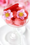 sorbet φράουλα Στοκ εικόνα με δικαίωμα ελεύθερης χρήσης