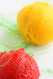 Sorbet d'orange et de fraise Photo stock
