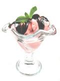 Sorbet decorado imagem de stock