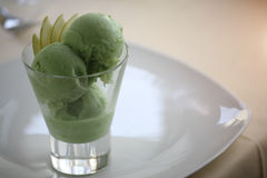 Sorbet green ice cream Royalty Free Stock Image