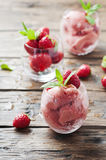 Sorbet with strawberry and mint Royalty Free Stock Photos
