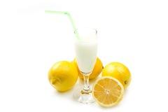 Sorbete del limón Imagenes de archivo