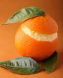 Sorbetto arancione ghiacciato Immagini Stock