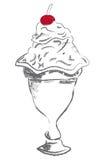 Sorbetto della coppa gelato Fotografia Stock Libera da Diritti