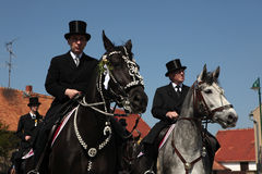 Sorbian Easter Riders in Upper Lusatia, Saxony, Germany. Stock Photography