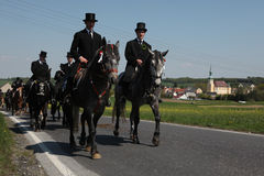 Sorbian Easter Riders in Upper Lusatia, Saxony, Germany. Royalty Free Stock Images