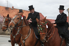 Sorbian Easter Riders in Upper Lusatia, Saxony, Germany. Stock Photos