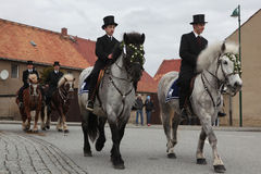 Sorbian Easter Riders in Upper Lusatia, Saxony, Germany. Royalty Free Stock Photography