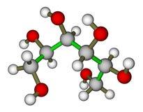 Sorbitol molecular structure. Optimized molecular structure of sweetener sorbitol on a white background Stock Images