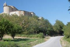 Sorbolongo Fossombrone, Märze: historisches Dorf Lizenzfreie Stockbilder