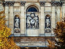 Sorbonne学院phasade细节  免版税库存照片