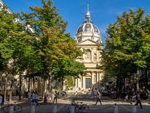 Sorbonne Chapel at the Sorbonne University. Paris, France - July 28, 2018: The Sorbonne Chapel at the Sorbonne University in Paris, France. The Sorbonne is a royalty free stock images