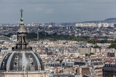 Sorbonne Church Dome Paris France. The dome of Sorbonne University church and the buildings of downtown Paris, France royalty free stock image