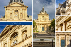 Sorbonne historical house in Paris Stock Images