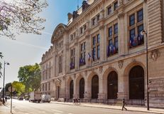 Sorbonne in Paris. The Sorbonne was the historical house of th. Today it houses several higher education and research institutions Royalty Free Stock Image