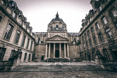Sorbonne University. Old historical building of Sorbonne University in Paris, France Royalty Free Stock Photography