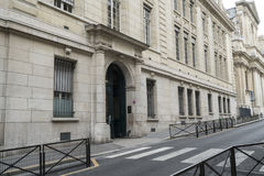 The Sorbonne University in Paris. Entrance gate of the Sorbonne University in Paris royalty free stock photography