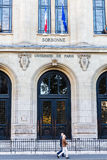Sorbonne University in Paris, France. Paris, France - October 16, 2016: Sorbonne in Paris. The Sorbonne was the historical house of the former University of royalty free stock image