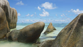 Sorce d'argent. Anse source d'argent on la digue Royalty Free Stock Photography