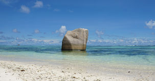 Sorce d'argent. Anse source d'argent on la digue Royalty Free Stock Images