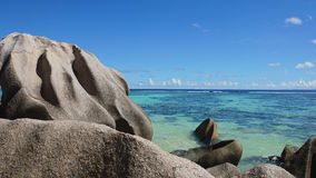 Sorce d'argent. Anse source d'argent on la digue Stock Photography