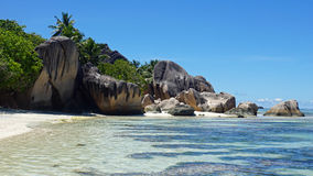 Sorce d'argent. Anse source d'argent on la digue Royalty Free Stock Photos