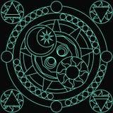 Sorcellerie magique I de cercle photographie stock libre de droits