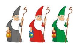 Sorcerer mag magician vector illustration cartoon Stock Photos