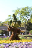 Sorcerer Mickey Topiary. Epcot Flower and Garden festival royalty free stock photo
