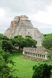 The sorcerer´s pyramid, Uxmal. Yucatan, Mexico Royalty Free Stock Images