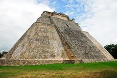 The sorcerer´s pyramid, Uxmal. Yucatan, Mexico Royalty Free Stock Photos